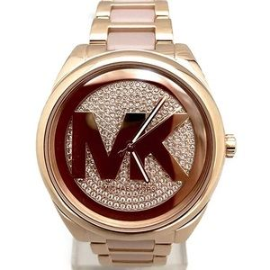 Micheal Kors Rose Gold Jeweled Watch NWT
